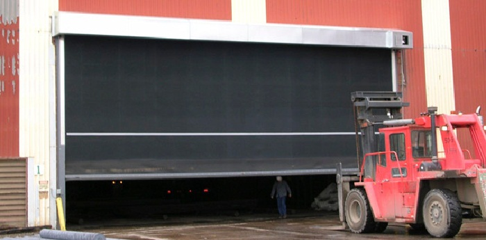 Tnr Hdl Large Industrial Roll Up Rubber Garage Door