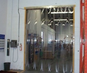 Strip curtain doors
