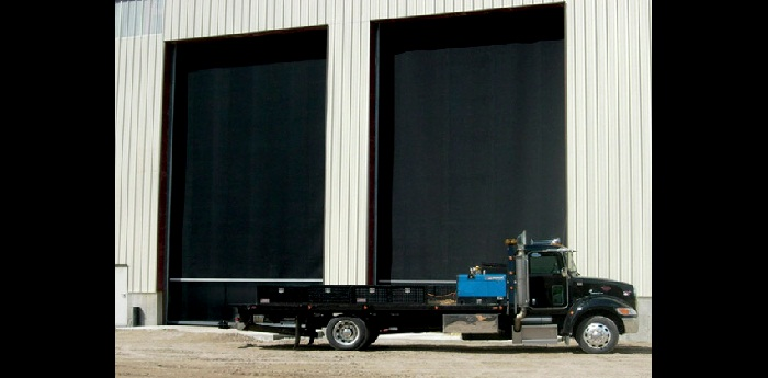 TNR HDL Large industrial roll-up rubber garage door
