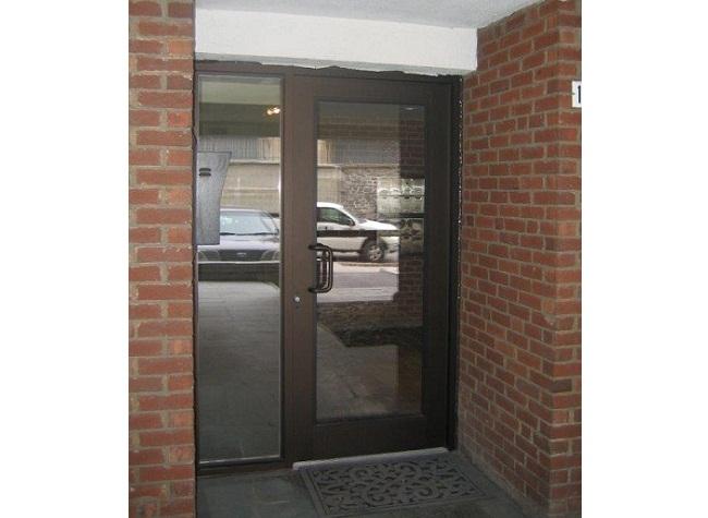 Portes d'aluminium vitrées de la série 1600 de Vertech